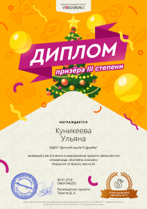 3Куникеева Ульяна